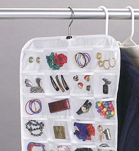 Hanging 80Pocket Vinyl Jewelry Organizer in Hanging Jewelry Organizers