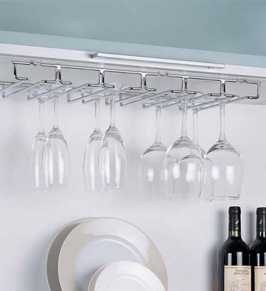 hanging wine glass rack chrome image click any image to view in high resolution - Hanging Wine Glass Rack