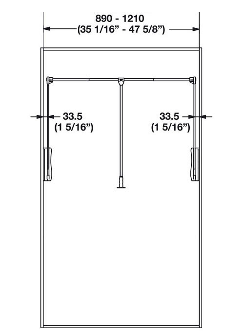 Heavy Duty Pull Down Closet Rod In Closet Rods And Brackets