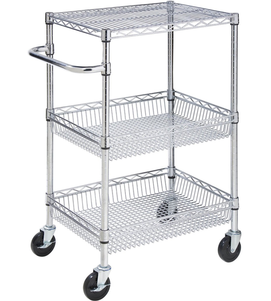 Rolling Storage Cart In Kitchen Island Carts