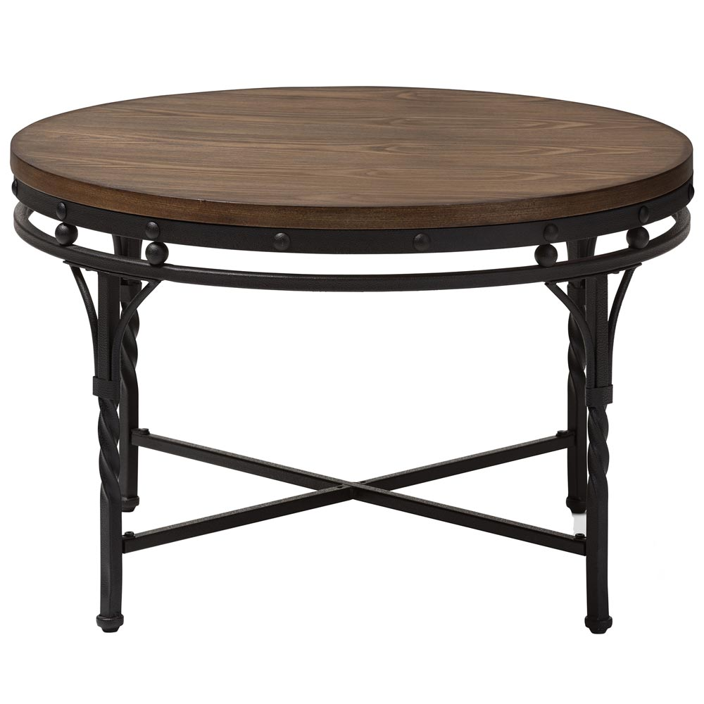 Industrial round coffee table in coffee tables for Coffee tables industrial