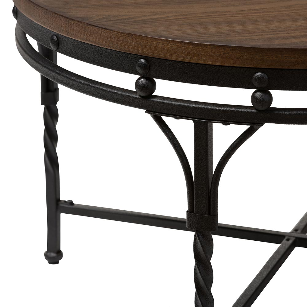 Bronze Industrial Coffee Table: Industrial Round Coffee Table In Coffee Tables