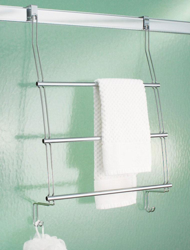 Interdesign Chrome Over The Door Towel Rack In Over The