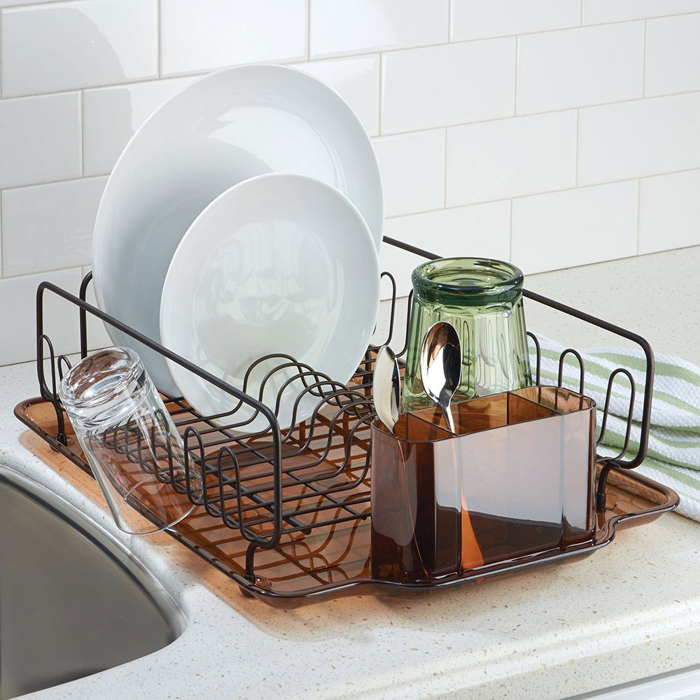Interdesign Dish Drainer Rack Bronze In Dish Racks