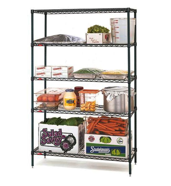 Intermetro Commercial Shelf 14 Inch Black In Intermetro