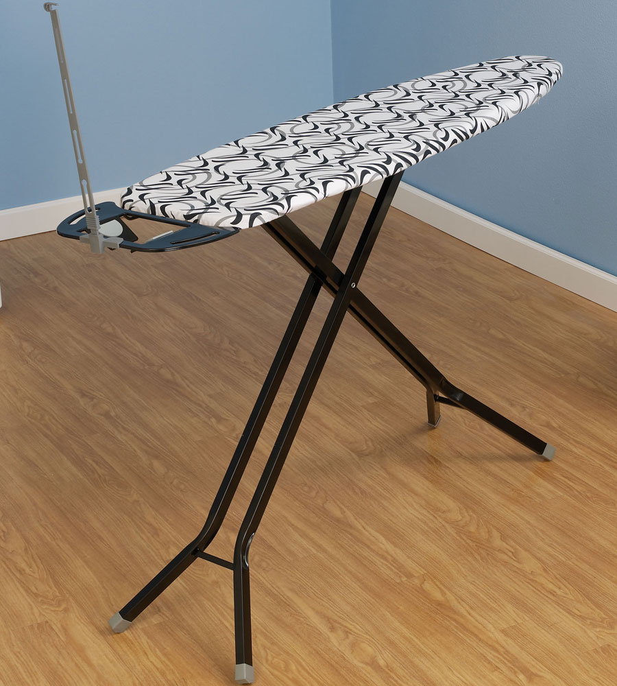 ironing board with iron rest black in ironing boards. Black Bedroom Furniture Sets. Home Design Ideas