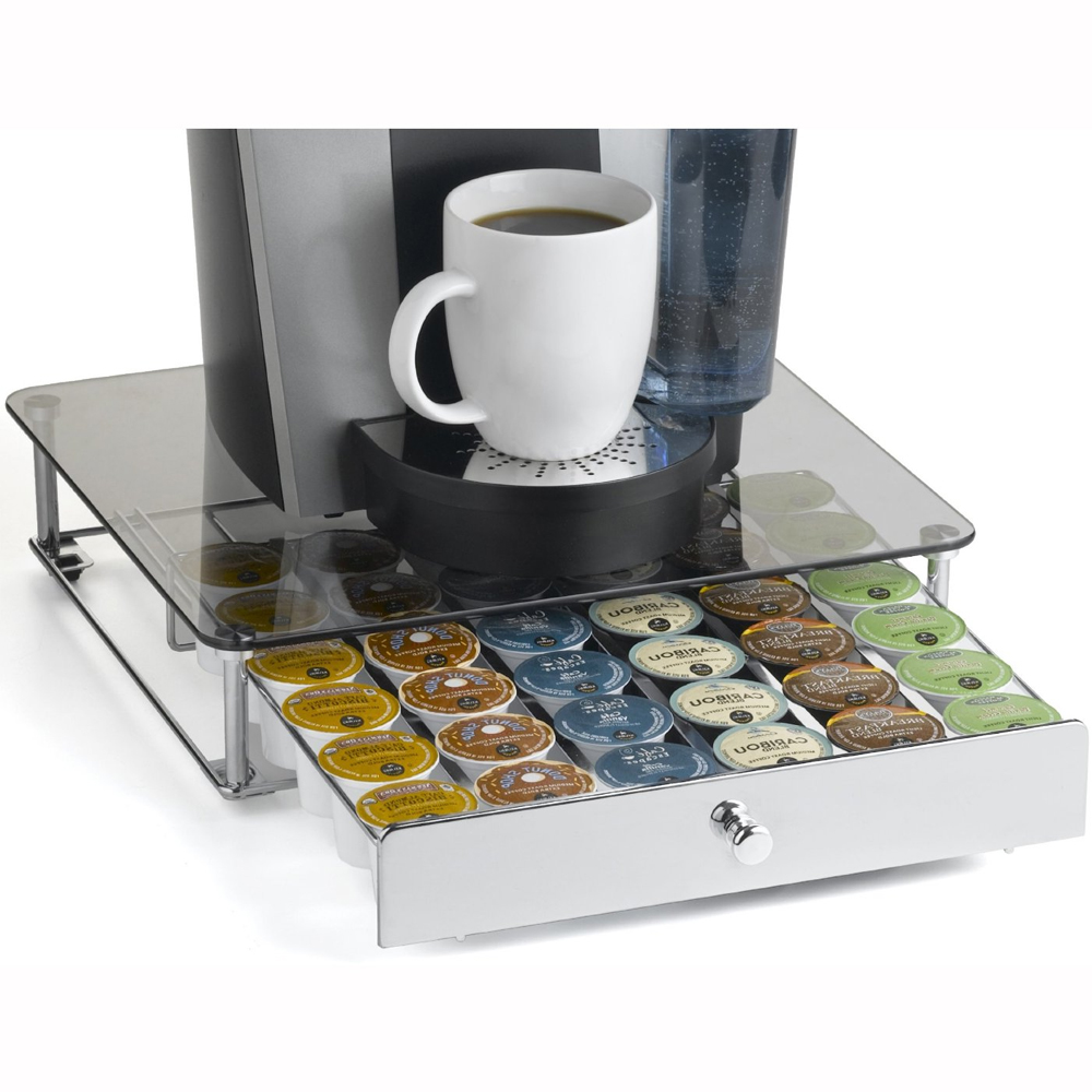 Keurig K-Cup Storage Drawer - Glass Top in Tea and Coffee Storage