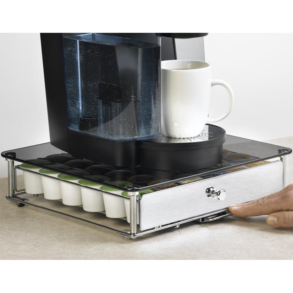 Keurig K-Cup Storage Drawer - Glass Top in Tea and Coffee Storage