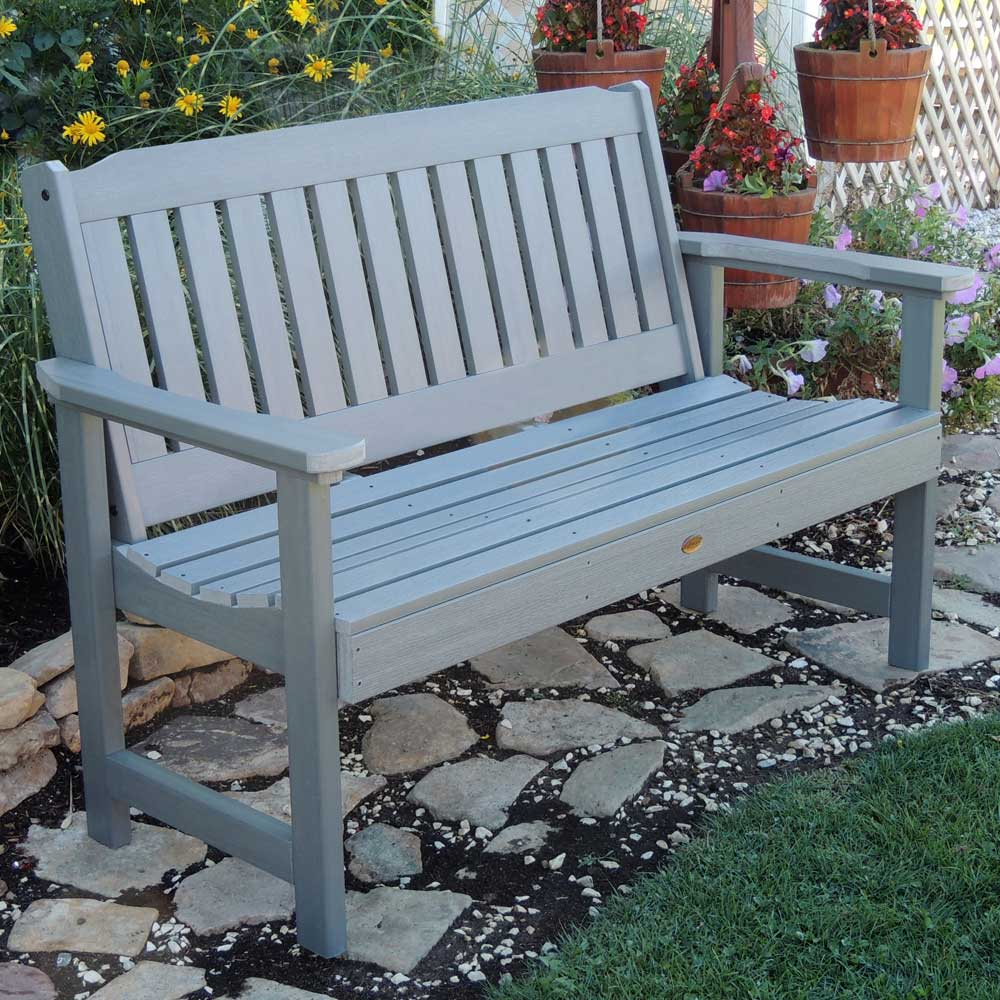 Synthetic Wood Garden Bench In Outdoor Benches