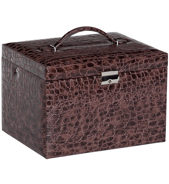 locking jewelry box faux leather in travel jewelry cases
