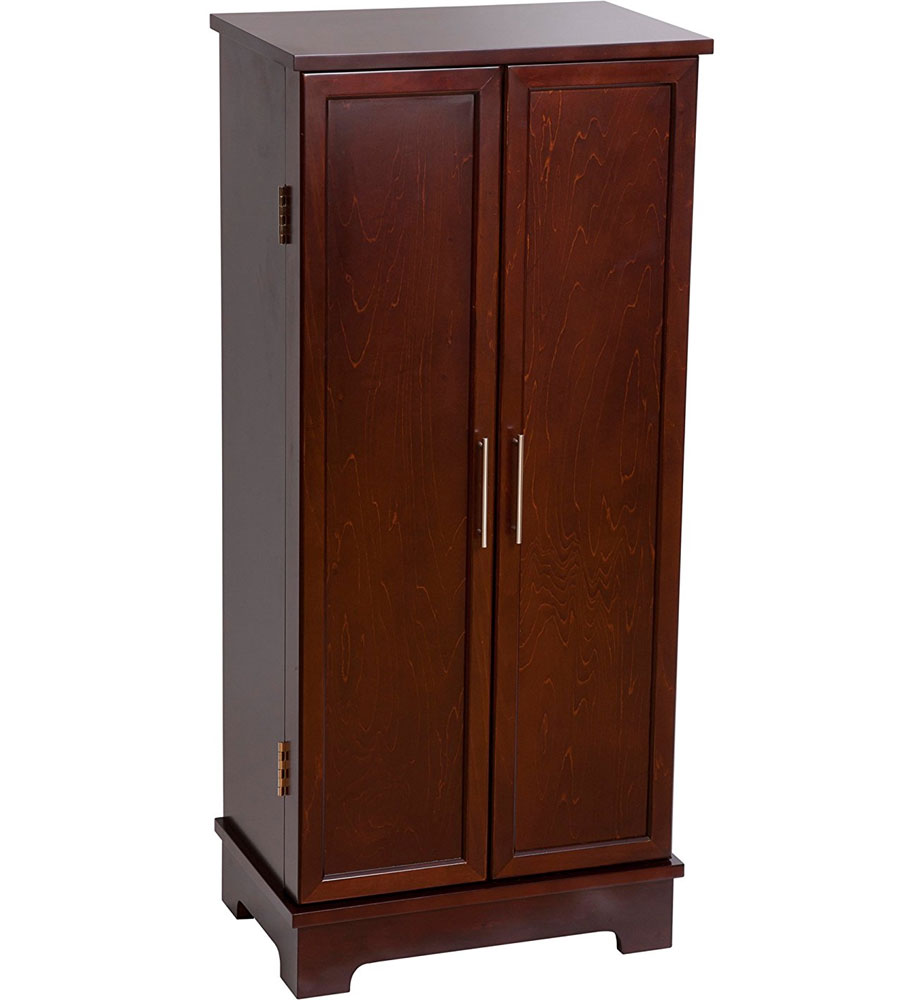 Wooden Jewelry Armoire In Jewelry Armoires