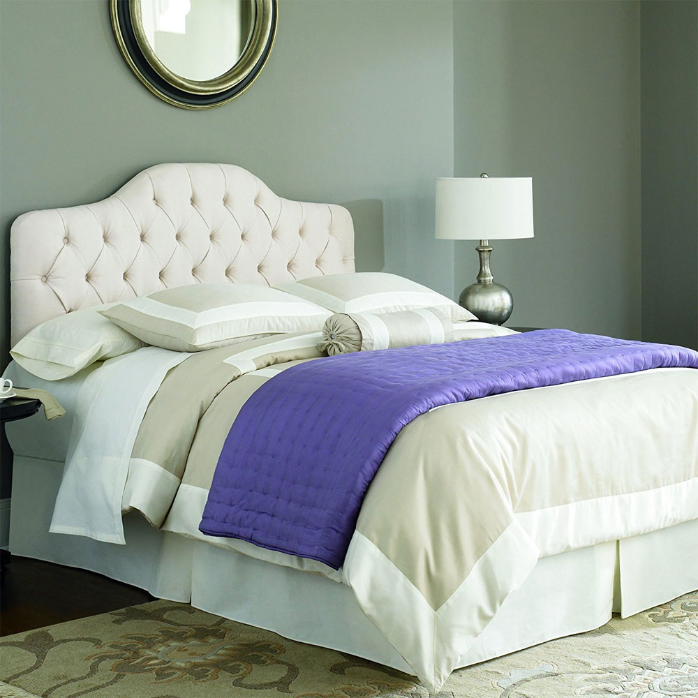 Martinique Ivory Padded Headboard In Beds And Headboards