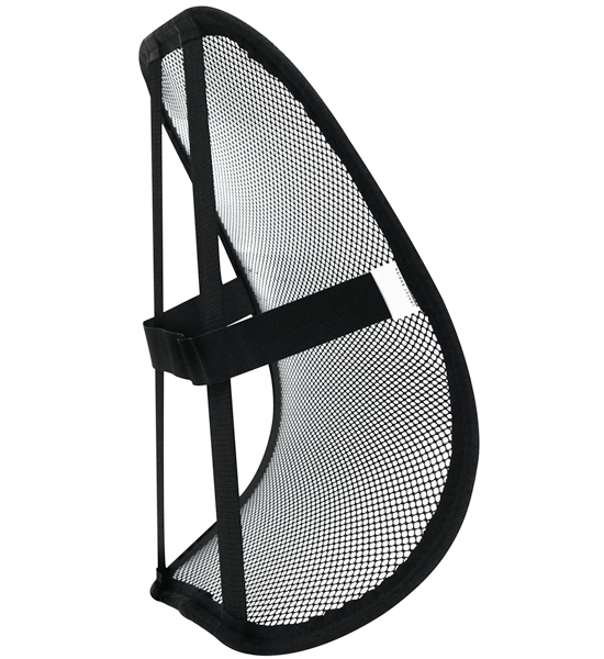 Mesh Back Support in Lumbar Cushions