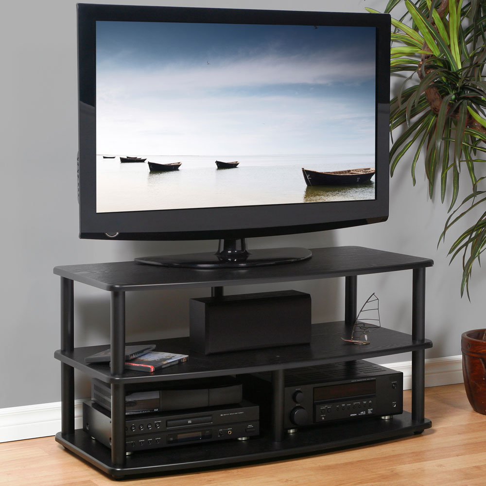 Wood And Metal TV Stand In TV Stands