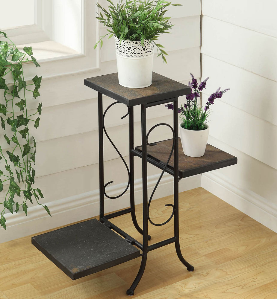 Metal Plant Stand In Garden Plant Stands