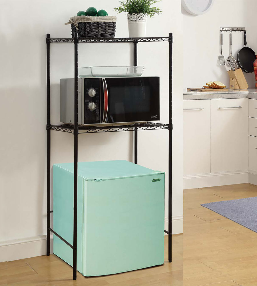 Mini Fridge And Microwave Rack In Kitchen Furniture