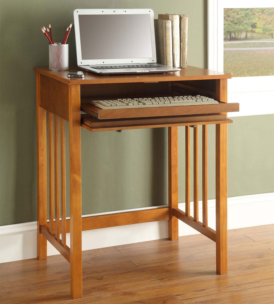 compact wood computer desk in kids desks. Black Bedroom Furniture Sets. Home Design Ideas