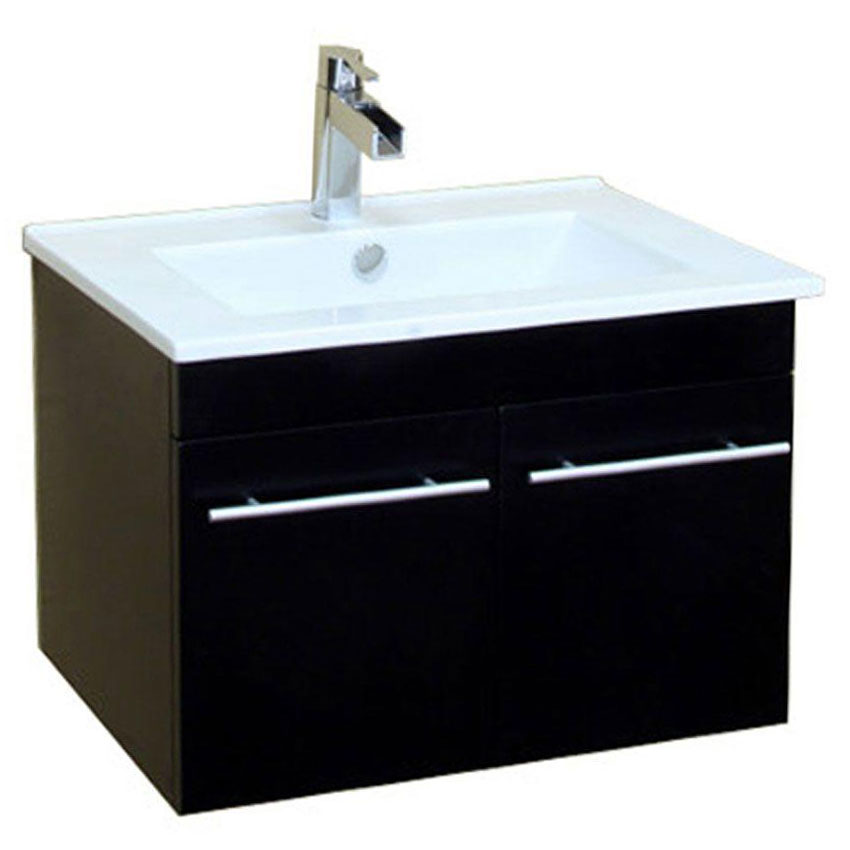 Modern floating sink vanity in bathroom vanities Floating bathroom vanity