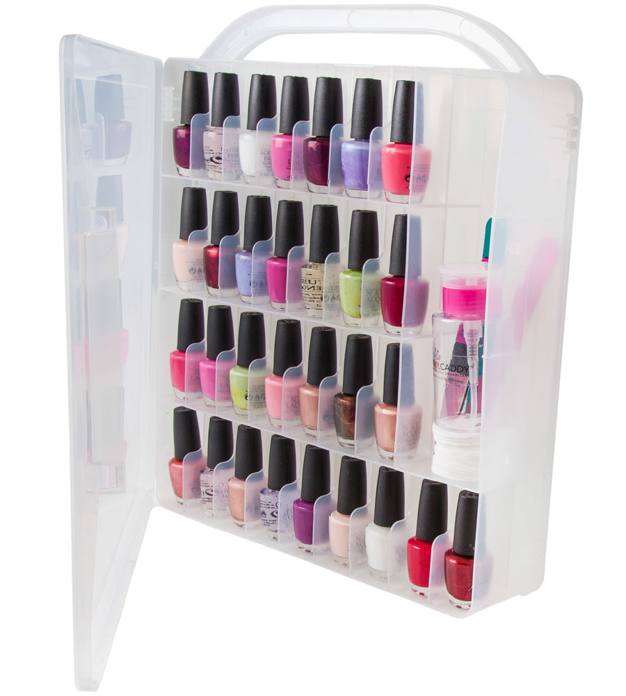 nail polish organizer case in nail polish storage. Black Bedroom Furniture Sets. Home Design Ideas