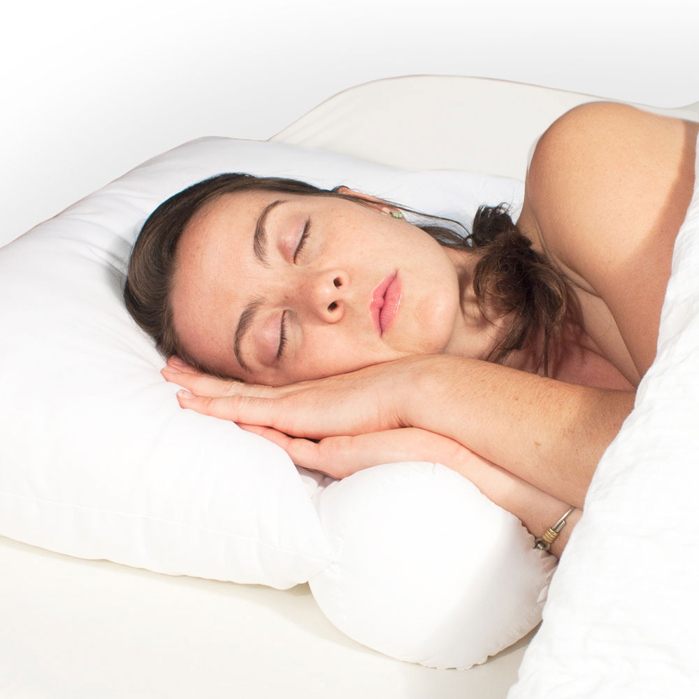 neck support bed pillow in bed pillows