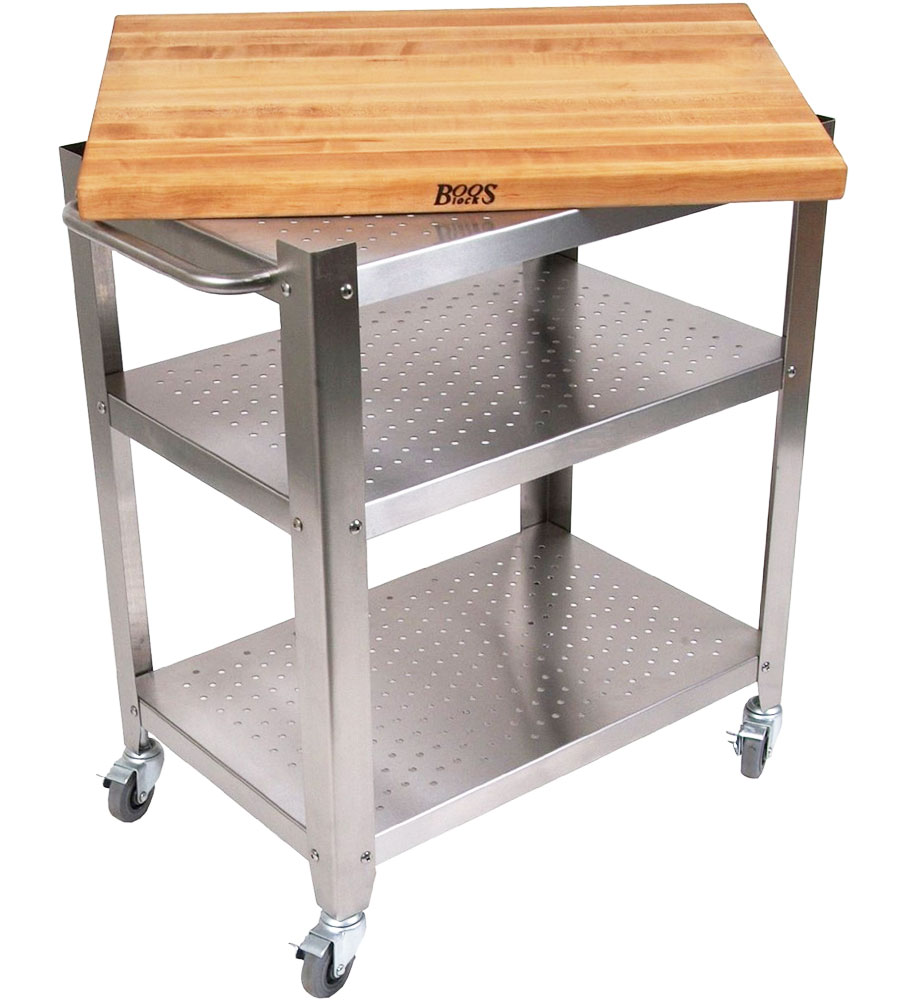 outdoor kitchen cart with wood top in kitchen island carts