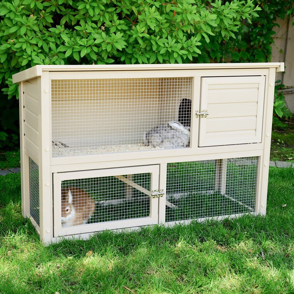Outdoor rabbit cage in pet pens for What is a rabbit hutch