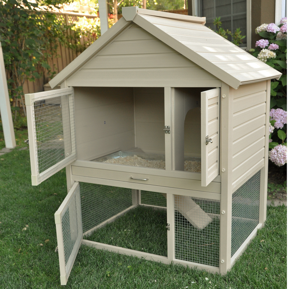 outdoor rabbit hutch in pet pens