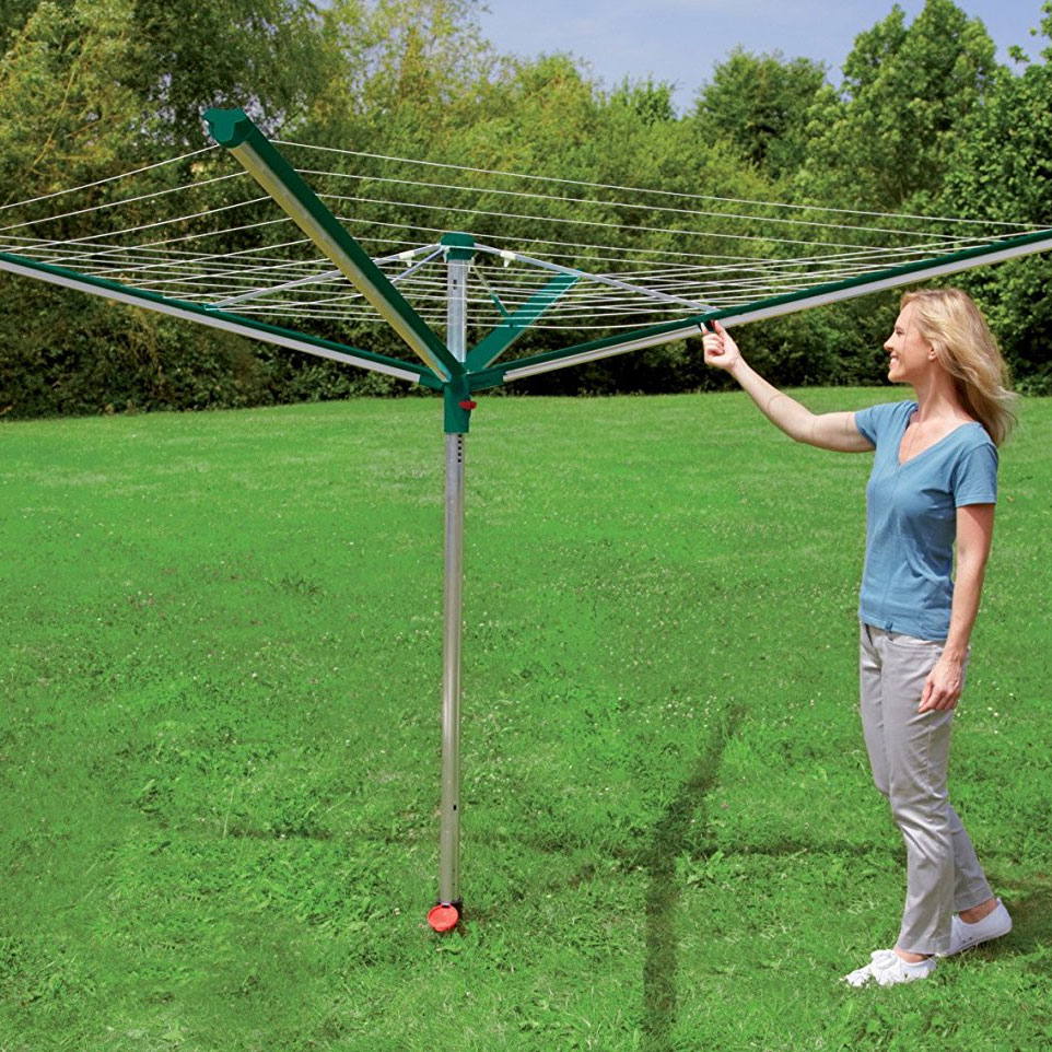 Outdoor Rotary Line Dryer In Clotheslines
