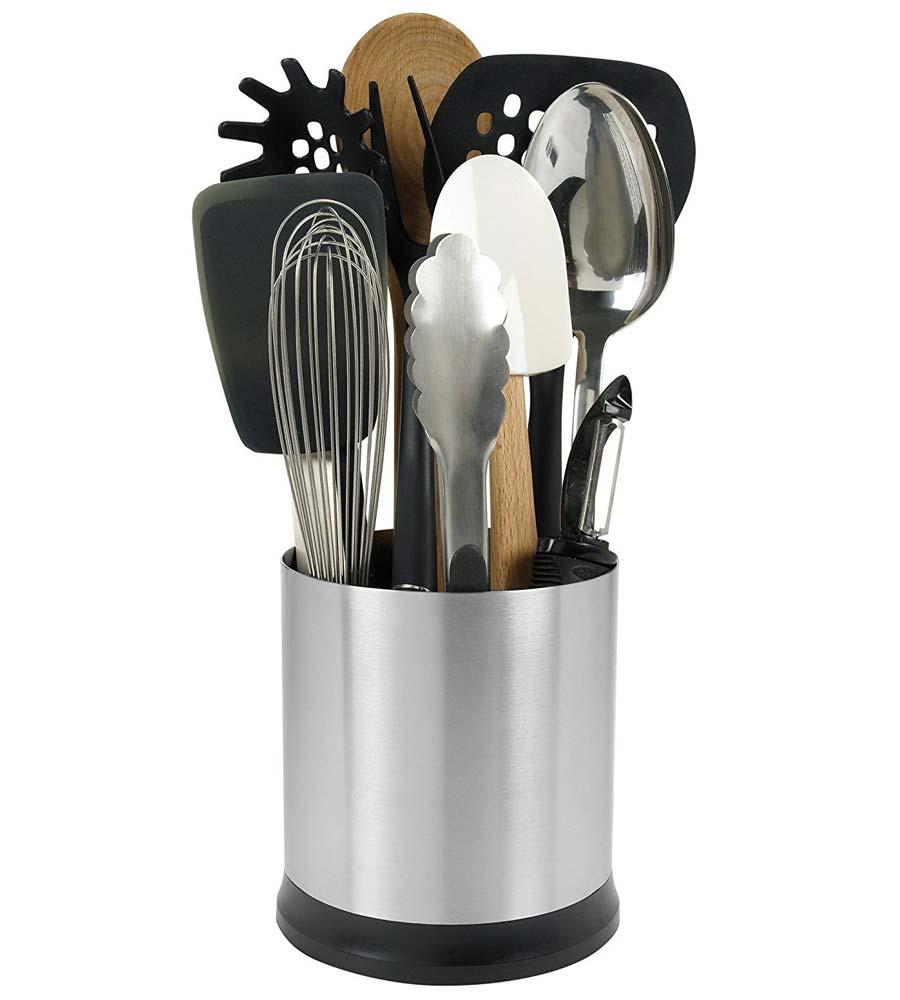 oxo good grips rotating utensil holder in kitchen utensil. Black Bedroom Furniture Sets. Home Design Ideas