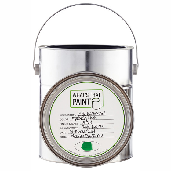 Paint Can Labels Gallon Set Of 5 In Garage Accessories