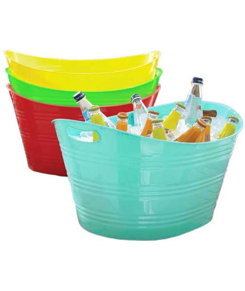 Plastic Beverage Tub In Storage Tubs And Buckets
