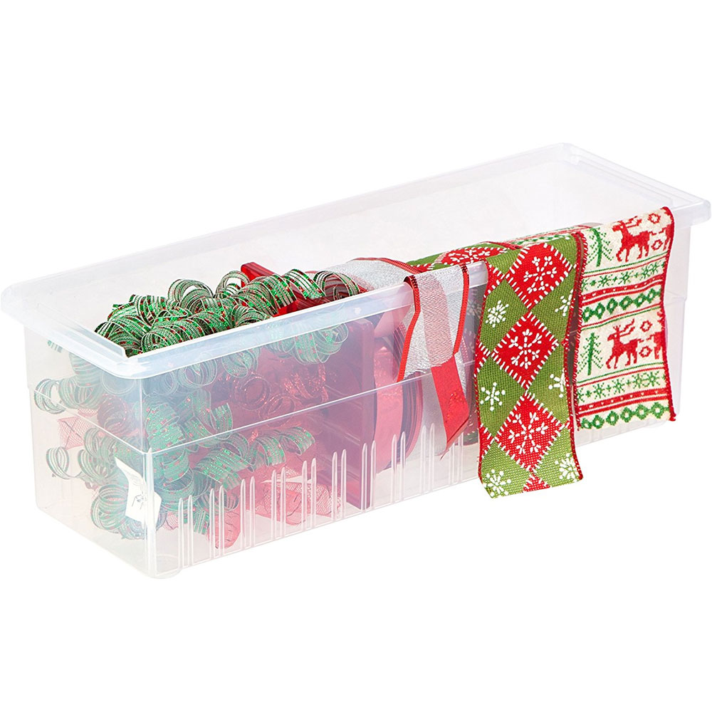 Plastic Ribbon Box And Dispenser In Gift Wrap Organizers