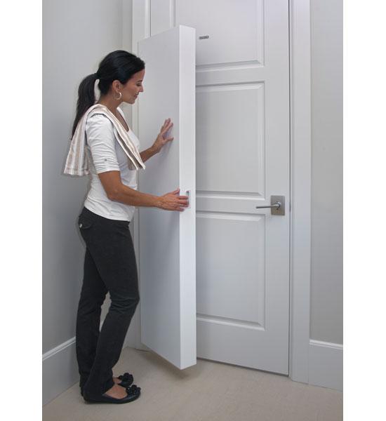 Portable Storage Closet Mounted In Behind The Door Storage