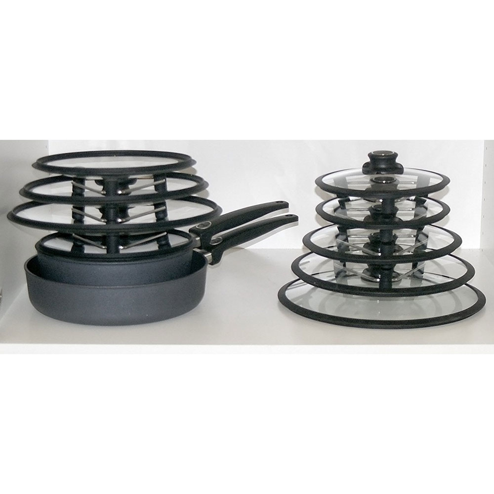 Pot And Pan Lid Organizer Set Of 2 In Pot Lid Racks