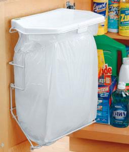 Rack Sack Kitchen Trash Can System in Cabinet Trash Cans