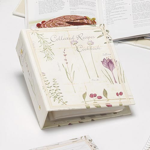 Botanical Treasures In Recipe Organizers