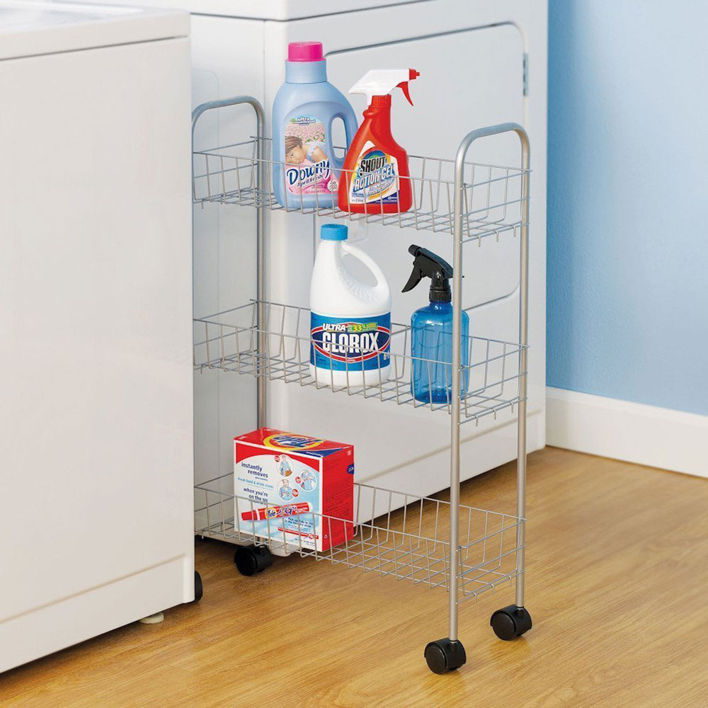 rolling laundry room storage cart image click any image to view in high resolution