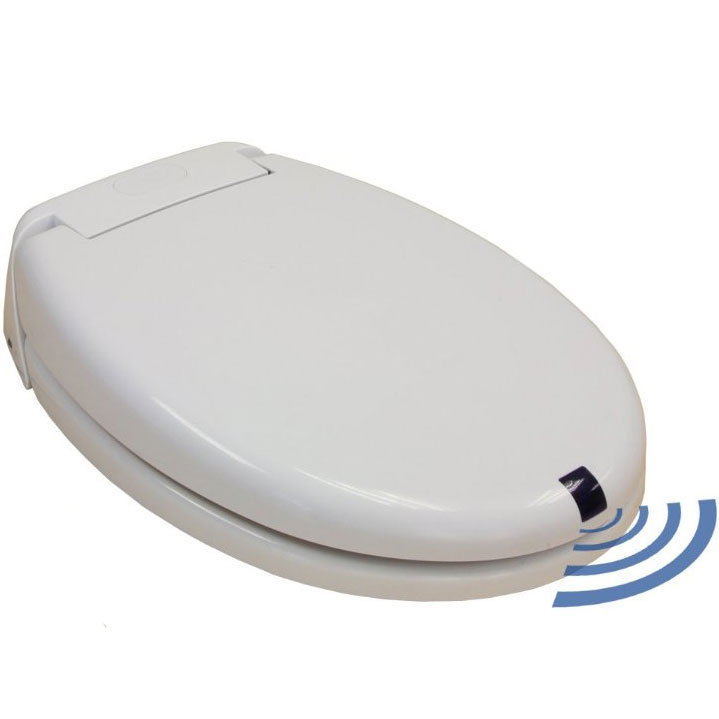 Round automatic toilet seat in home healthcare equipment for Touchless toilet seat