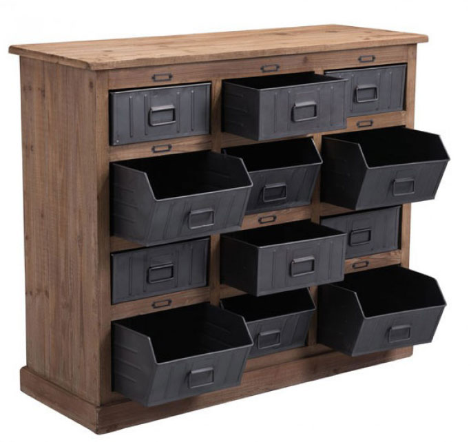 Rustic Foyer Cabinet : Rustic storage cabinet in entryway