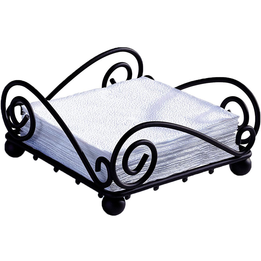 scroll flat napkin holder image click any image to view in high resolution - Napkin Holders