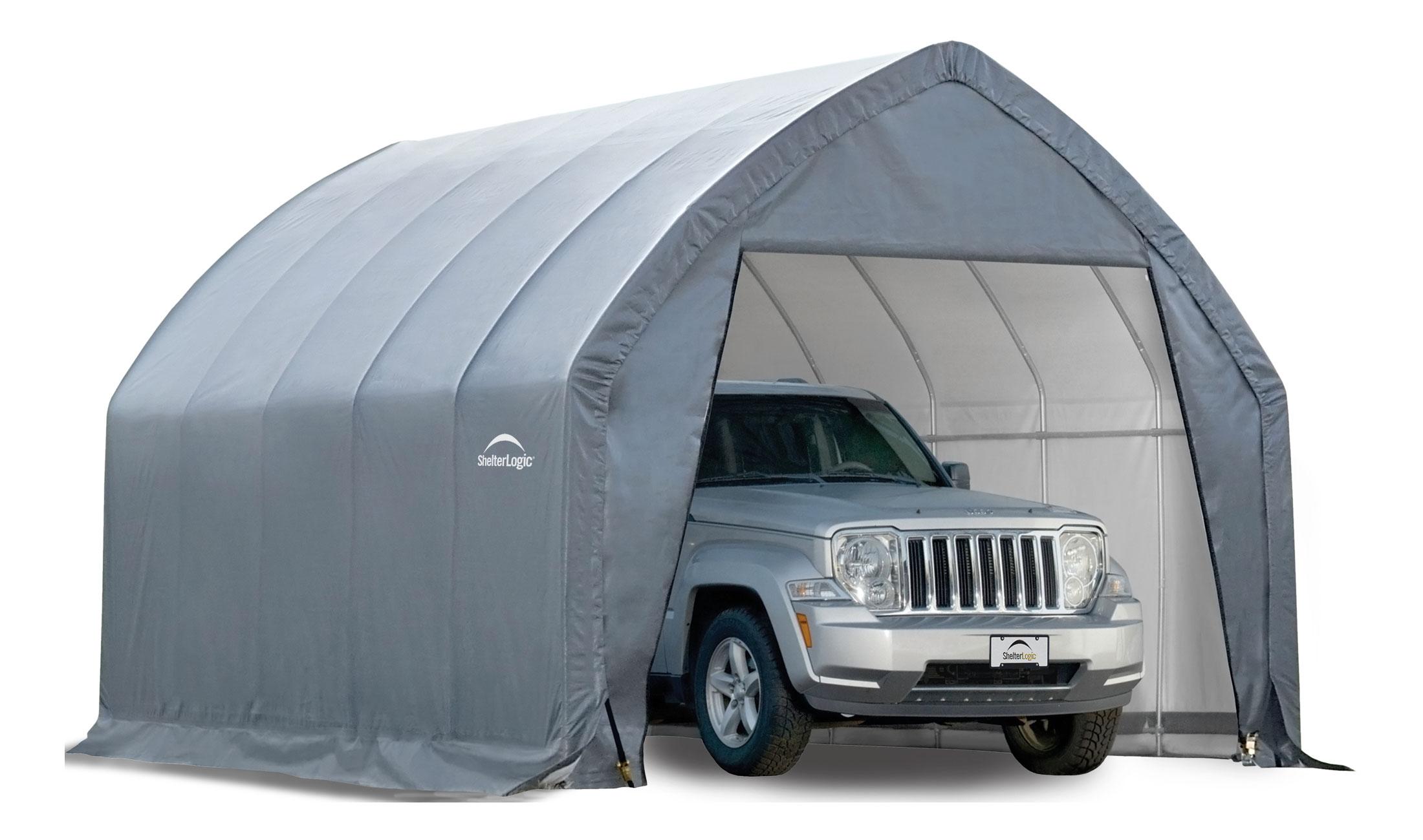 Shelterlogic Garage In A Box High Arch In Storage Sheds