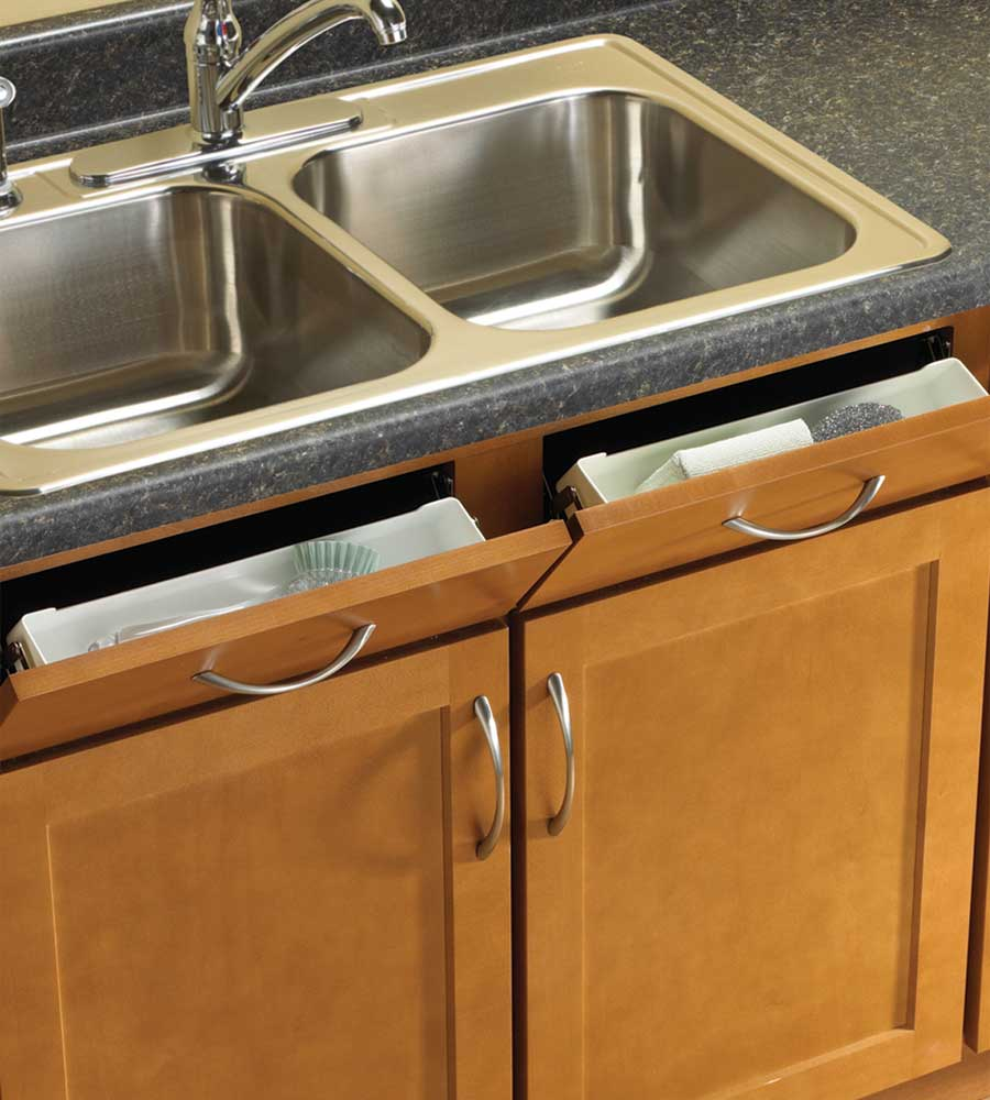 Sink Front Storage Tray Kit Set Of 2 In Sink Organizers