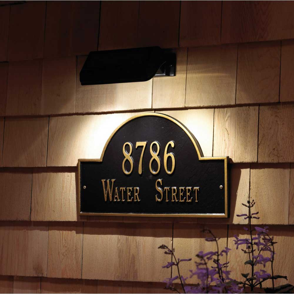 solar address plaque lamp in led lights. Black Bedroom Furniture Sets. Home Design Ideas