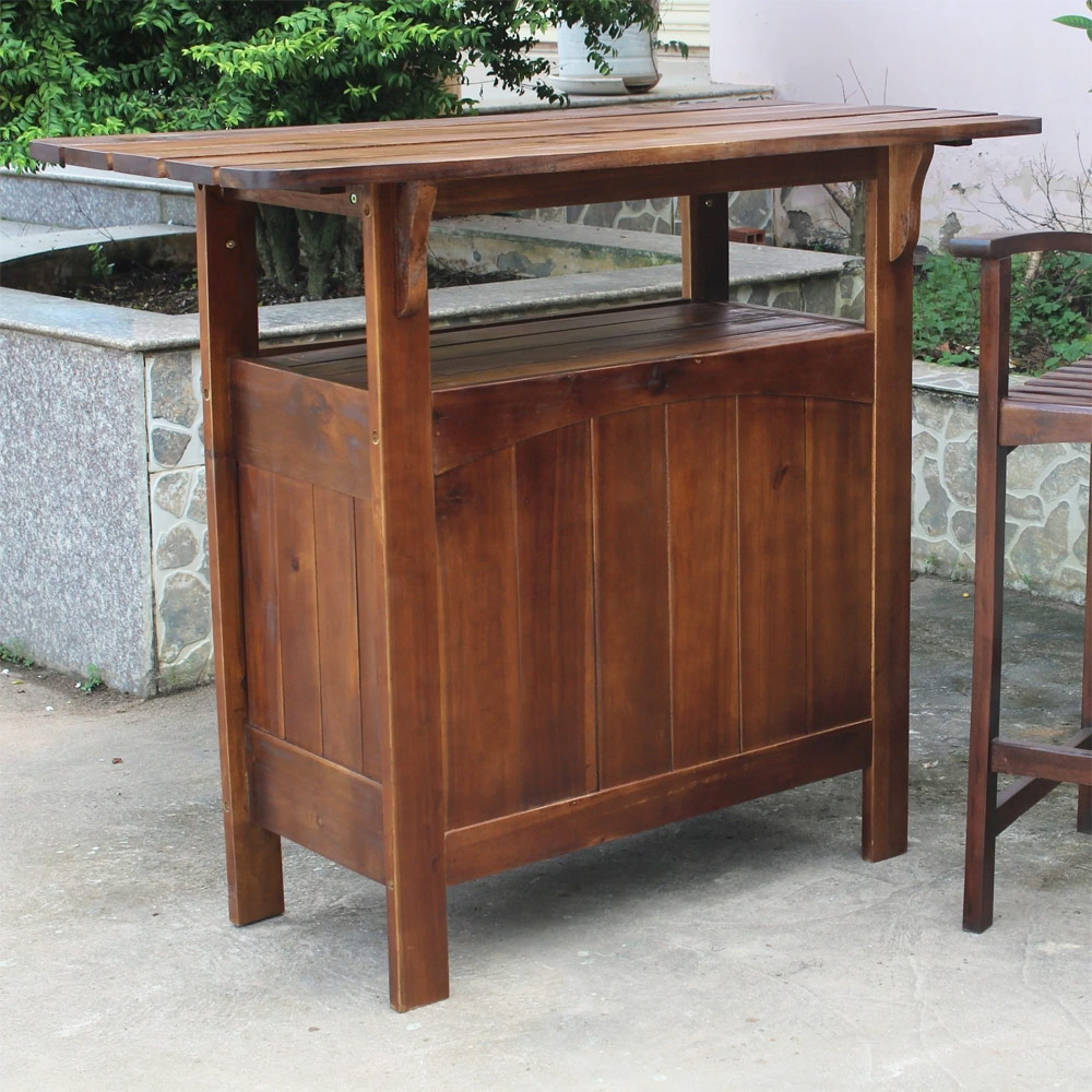 fantastic solid wood outdoor table kitchen