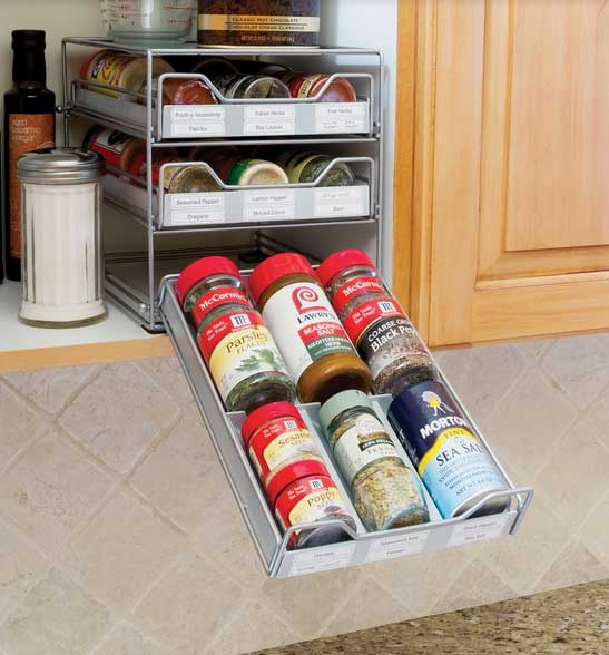 Amazing Spice Storage Solutions #20 - The Drawers Pull Out And Down For Easy Viewing (especially Useful If You  Want To Store The Spice Chest On An Upper Shelf). The Set Includes 60  Pre-printed ...