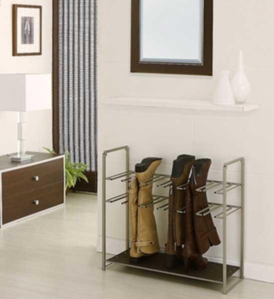 stackable boot rack in shoe racks. Black Bedroom Furniture Sets. Home Design Ideas