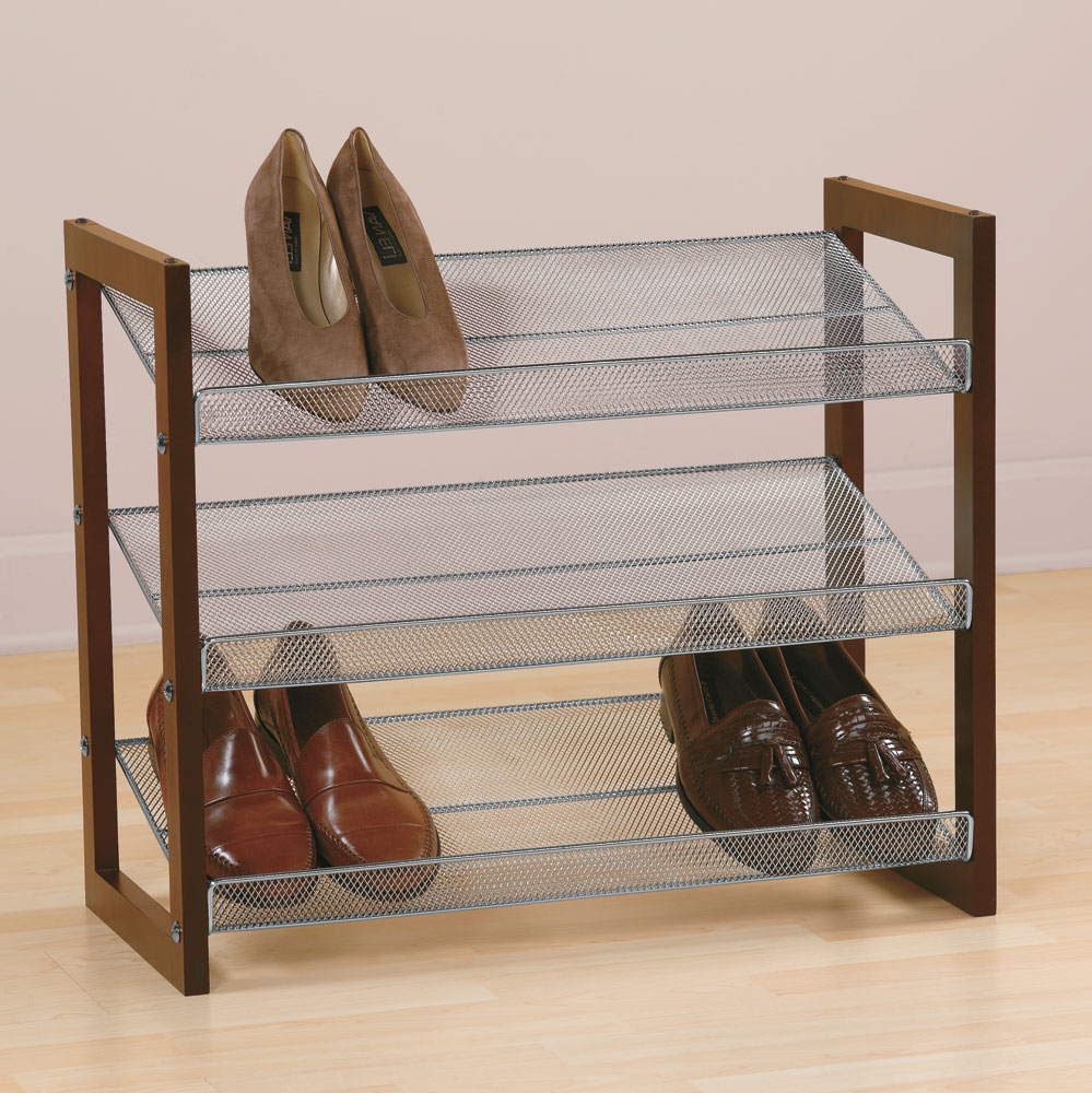 Stacking 3 Tier Shoe Rack In Shoe Racks