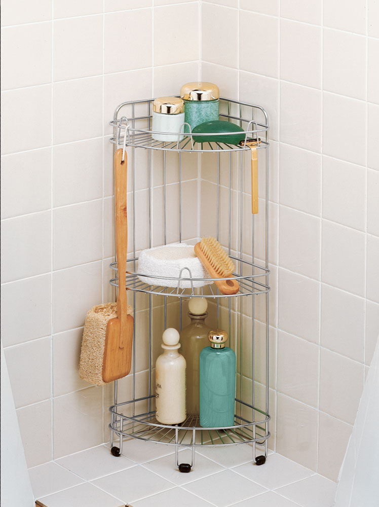 Corner Shower Caddy - Stainless Steel in Shower Caddies