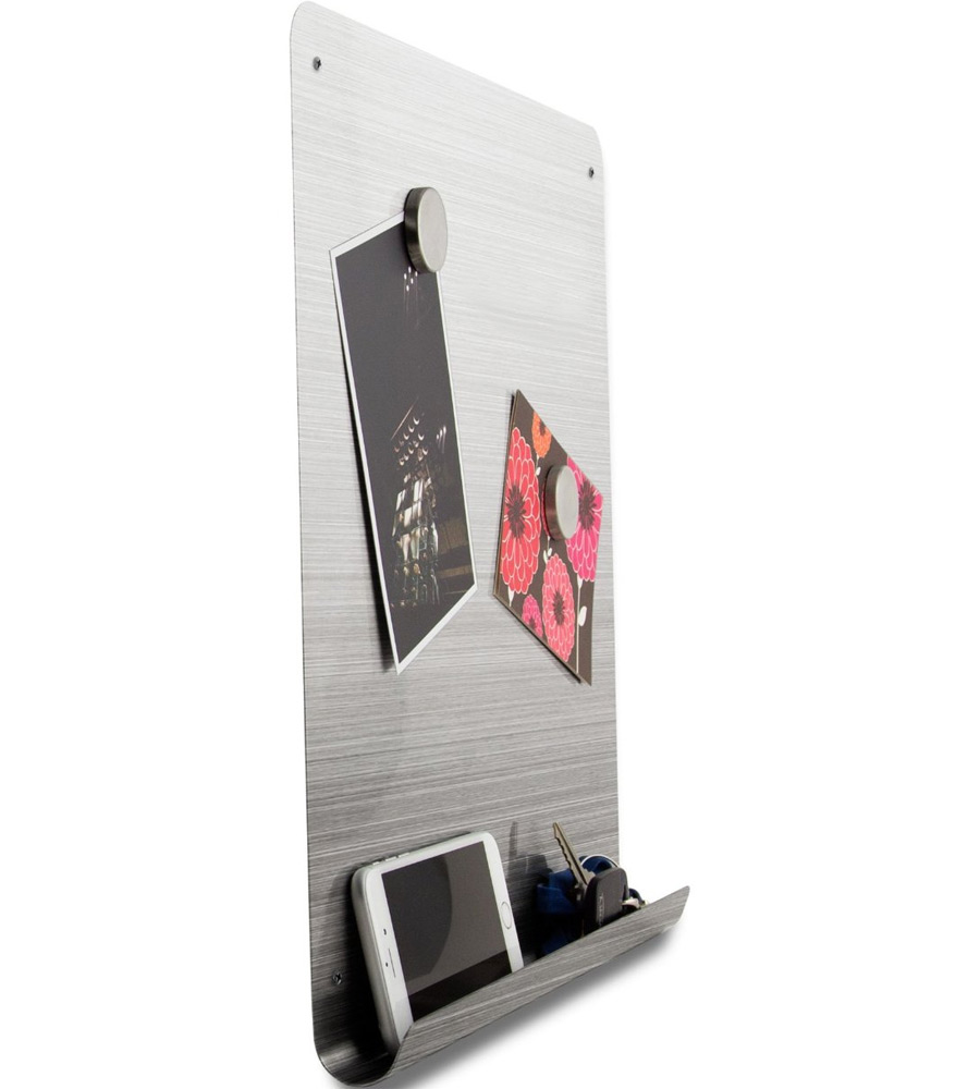 Metal Dry Erase Board : Stainless steel dry erase board in memo and bulletin boards
