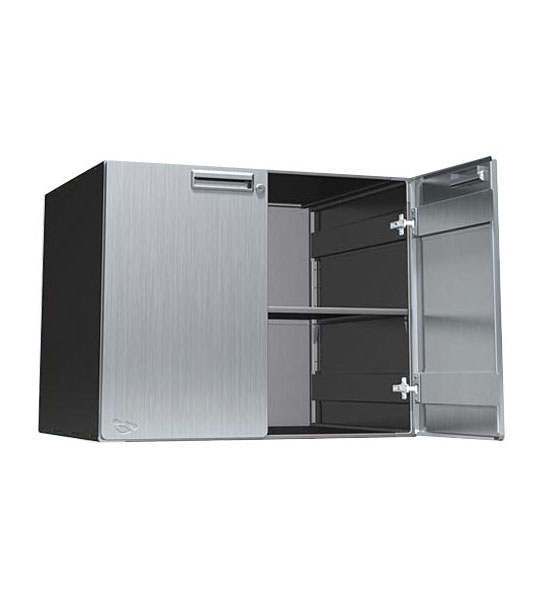 Steel garage cabinet 30x24x24 inch lower in steel for Metal cupboards for garage